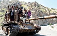 الصورة: الجيش اليمني يحرر قرية آل سلمة في مأرب ويتقدم نحو لبنات الجوف