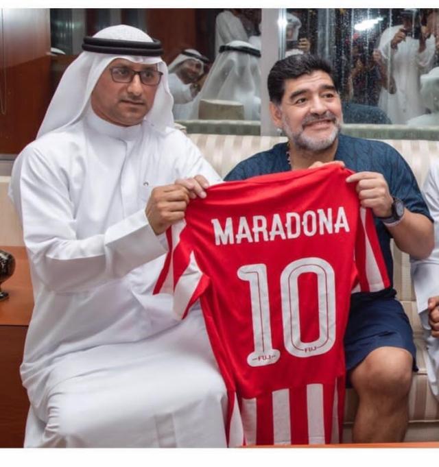 صورة اليماحي: مارادونا ترك بصمة مضيئة وكبيرة في الفجيرة – رياضة – محلية