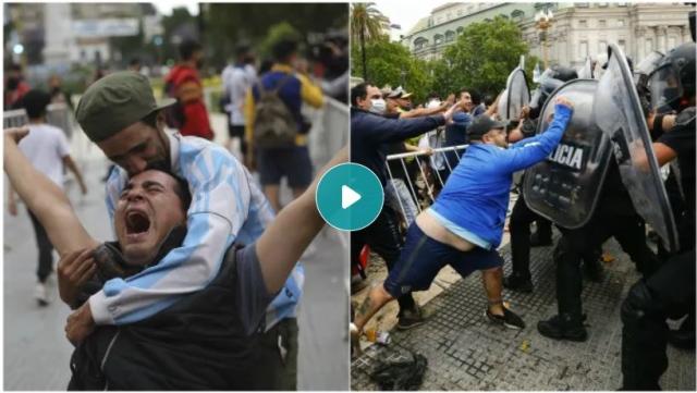 صورة فيديو: عشاق مارادونا يحاولون اقتحام القصر الرئاسي الأرجنتيني لإلقاء نظرة الوداع – رياضة – عربية ودولية