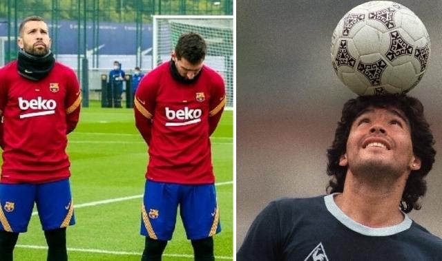صورة بالفيديو: ميسي يبكي على مارادونا خلال تدريبات برشلونة – رياضة – عربية ودولية