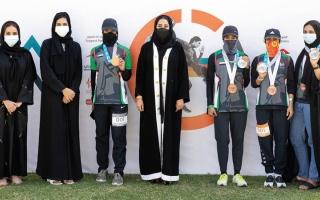 الصورة: حصة آل مكتوم ونوف النون تحرزان لقب «سوبر سبرينت» في «ترايثلون دبي للسيدات 2020»