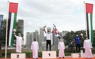 الصورة: «عمان 44» و«فيكتوريوس» بطلي سباق «دبي لقوارب التجديف»