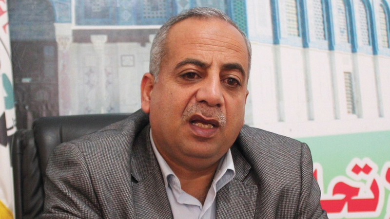 مسؤول نقابة العمال في غزة سامي العمصي. من المصدر