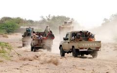 الصورة: الجيش اليمني والقبائل يحرران «جبل اطهف» في صرواح مأرب