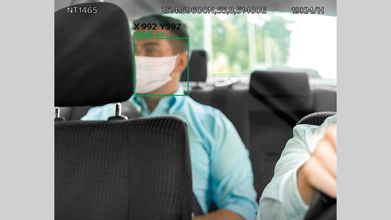 الهيئة تراقب التزام السائقين والركاب باشتراطات الوقاية من كورونا.       من المصدر