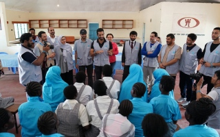 الصورة: «القلب الكبير» تُطلق مشروع بناء مدرسة في مخيّم بكينيا