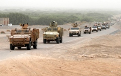 الصورة: تعزيزات عسكرية للجيش اليمني والتحالف استعداداً لمعركة حاسمة في محيط صنعاء