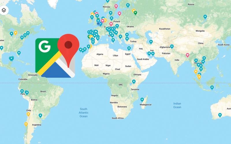 الصورة: تغيير أسماء الأماكن على «خرائط غوغل»