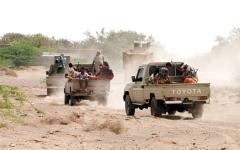 الصورة: «التحالف» يدمّر طائرة بدون طيار أطلقتها الميليشيات الحوثية باتجاه السعودية