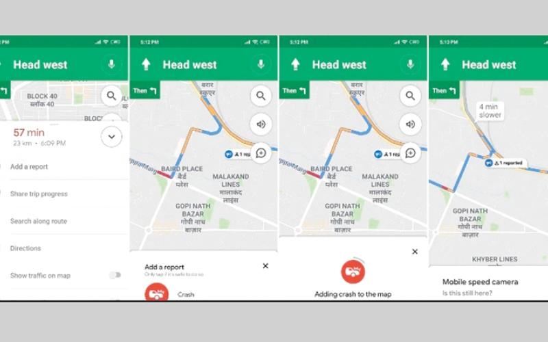 الصورة: الإبلاغ عن عوائق السير في «خرائط غوغل»»
