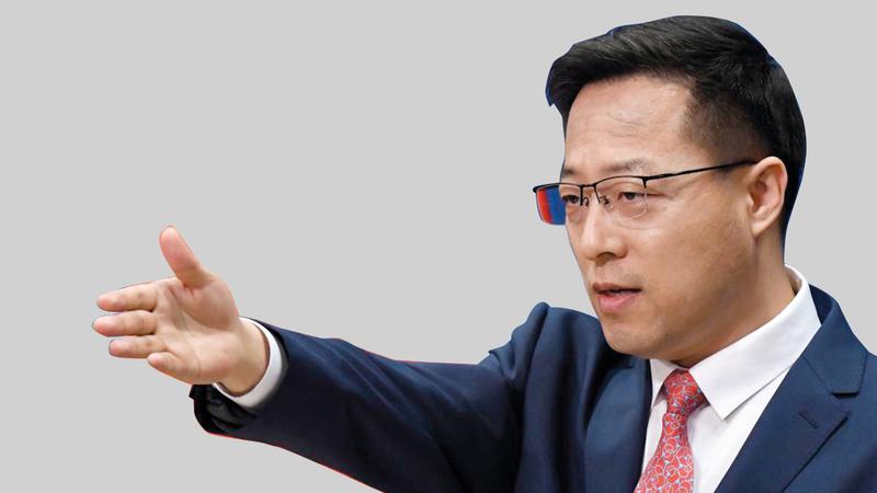 المتحدث باسم وزارة الخارجية تشاو ليجيان أكثر الذئاب المحاربة شراسة في الصين.   من المصدر