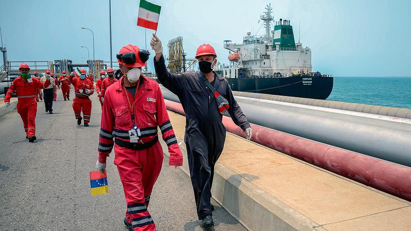 إيران تتعاون بشكل وثيق مع فنزويلا منذ فترة.   أ.ف.ب