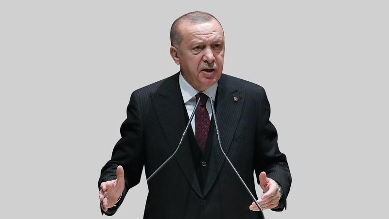 الشعر الذي قرأه أردوغان ليس على سبيل المصادفة لكنه مداهنة لشريكه القومي المتشدد في الائتلاف. أ.ف.ب