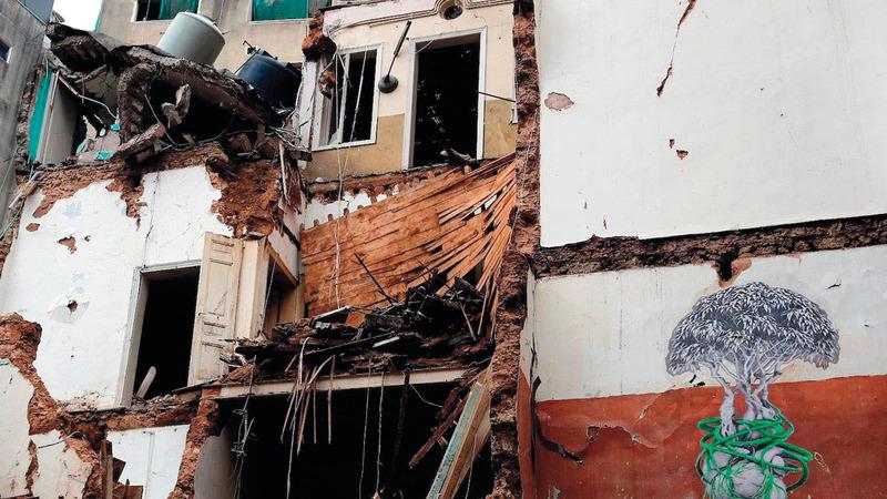 لبنان لايزال يجاهد للتعافي من انفجار مدمّر. أرشيفية