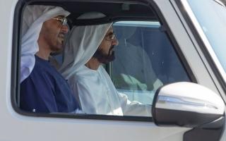 محمد بن راشد ومحمد بن زايد يبحثان القضايا والموضوعات الوطنية thumbnail