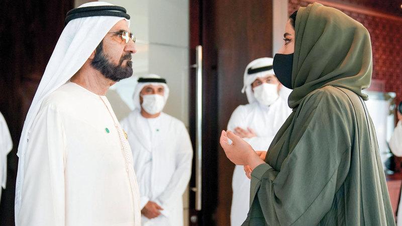 محمد بن راشد يتابع استعدادات تنظيم منتدى الإعلام العربي.  من المصدر