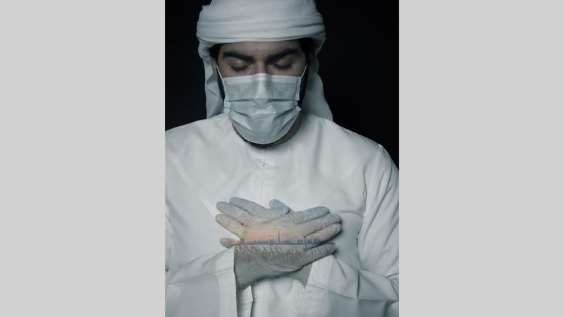 لوحة «نم قرير الشعب يا وطني» للفنانة روضة الصايغ. من المصدر