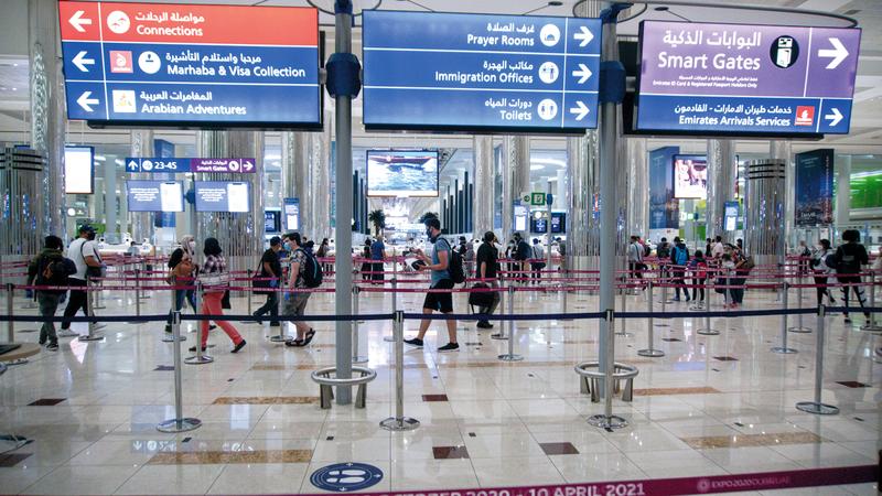 «دبي الدولي» يوفر رحلات ربط مباشرة إلى العديد من الوجهات الدولية.   تصوير: أشوك فيرما