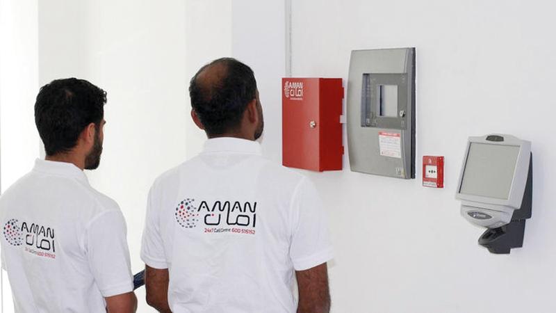 تتم زيارة المنشأة للتأكد من استيفاء متطلبات تركيب جهاز «أمان». À من المصدر