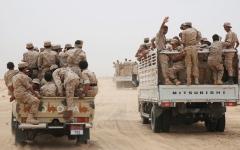 الصورة: الجيش اليمني يسيطر على سلسلة جبال المطابق في الجوف