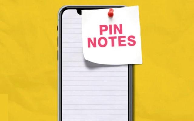 الصورة: إزالة الملاحظات المثبتة في تطبيق Notes على «آي فون»