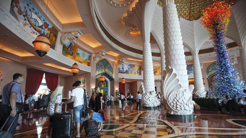 دبي توفر طاقة فندقية كبيرة تتوزع بين فنادق صغيرة ومتوسطة ومنشآت فاخرة. الإمارات اليوم