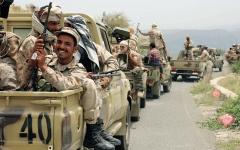 الصورة: الجيش اليمني يحرّر مناطق واسعة بجبهة الصفراء في صعدة