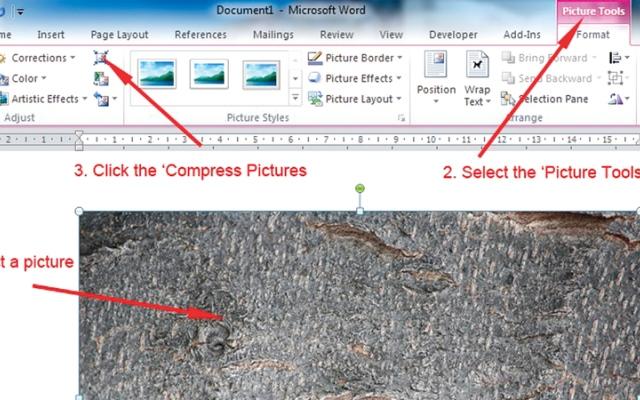 الصورة: تقليل حجم الصور في مستندات «وورد»