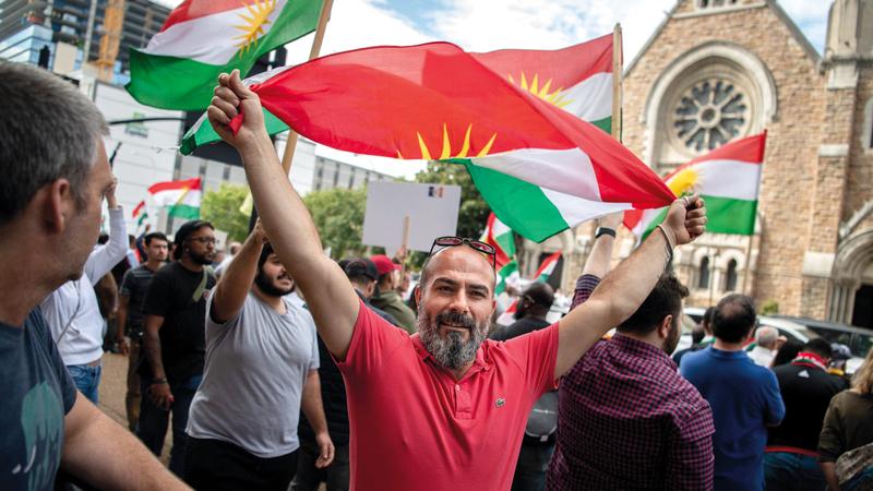 المتظاهرون في كردستان العراق طالبوا بدفع الرواتب لهم التي لم يحصلوا عليهامنذ اكتبوبر الماضي.