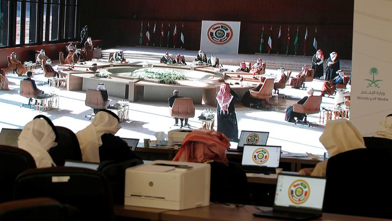 خلال أعمال قمة قادة دول مجلس التعاون الخليجي الـ41 في مدينة العلا السعودية. رويترز