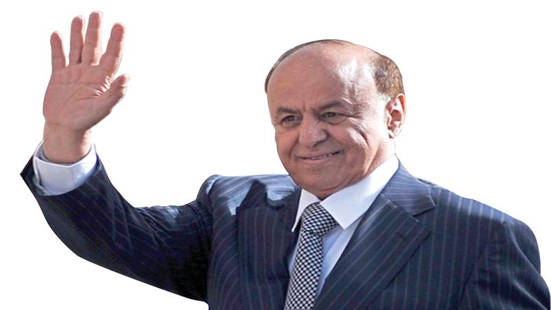 الرئيس اليمني عبدربه منصور هادي حرص على تنفيذ اتفاق الرياض.  أرشيفية