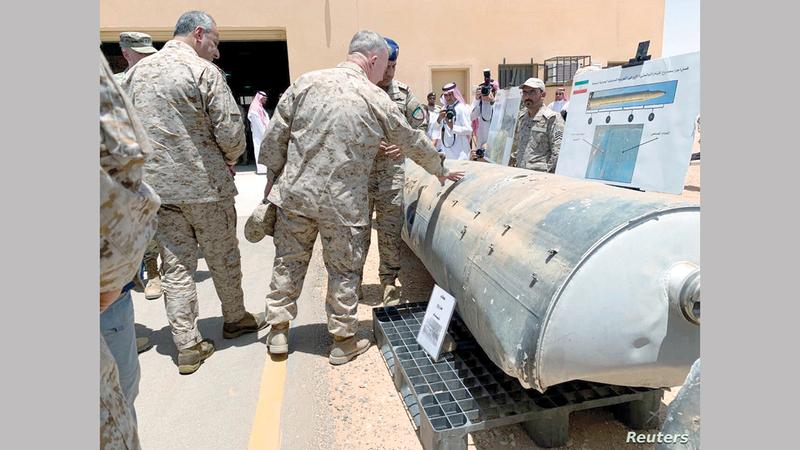 الميليشيات الحوثية واصلت استهداف الرياض بالصواريخ الباليستية.  رويترز