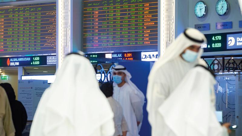 سوق دبي المالي أغلق عند مستوى 2626 نقطة. ■ تصوير: أحمد عرديتي