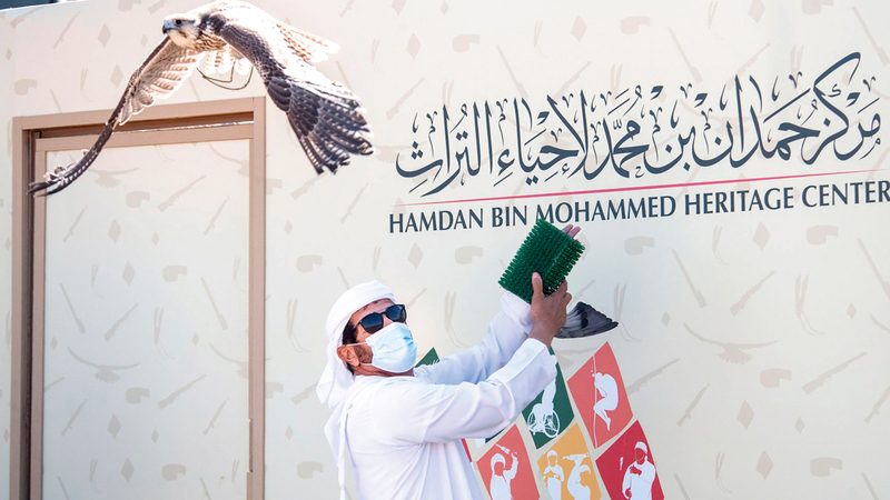 حمد بن مجرن الأول في شوط جير شاهين.  من المصدر