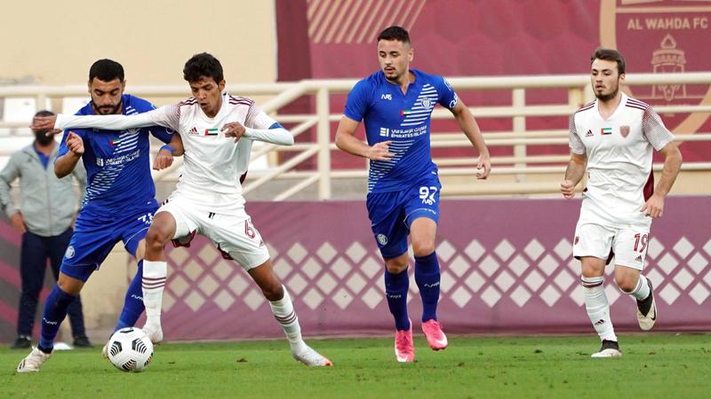 جانب من مباراة في دوري الرديف بين الوحدة والنصر.  من المصدر