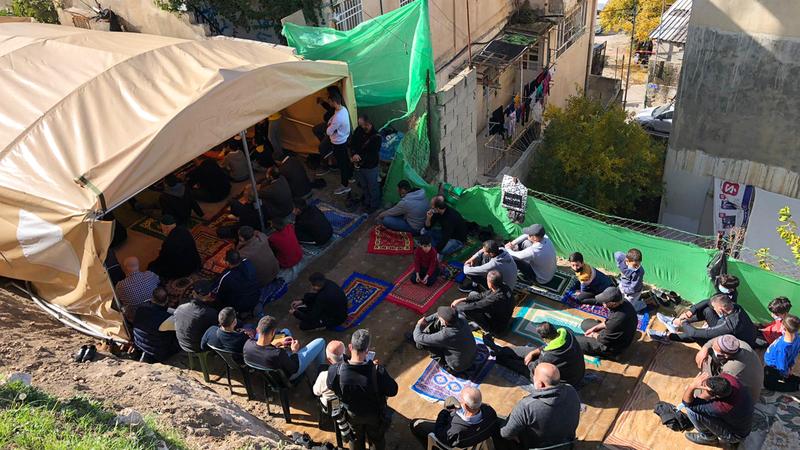 خيمة الاعتصام.   الإمارات اليوم