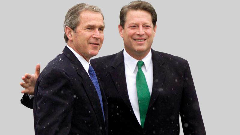آل جور اعترف سريعاً بالهزيمة أما منافسه جورج بوش. أرشيفية