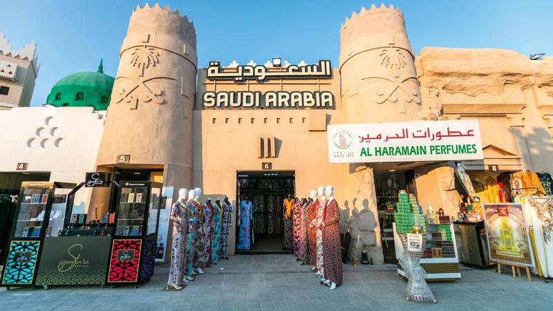 منتجات متنوعة يعرضها الجناح السعودي. من المصدر