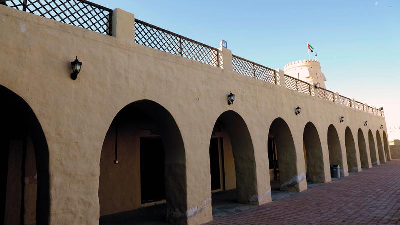 الحصن أعيد افتتاحه بعد الترميم في عام 2015. وام