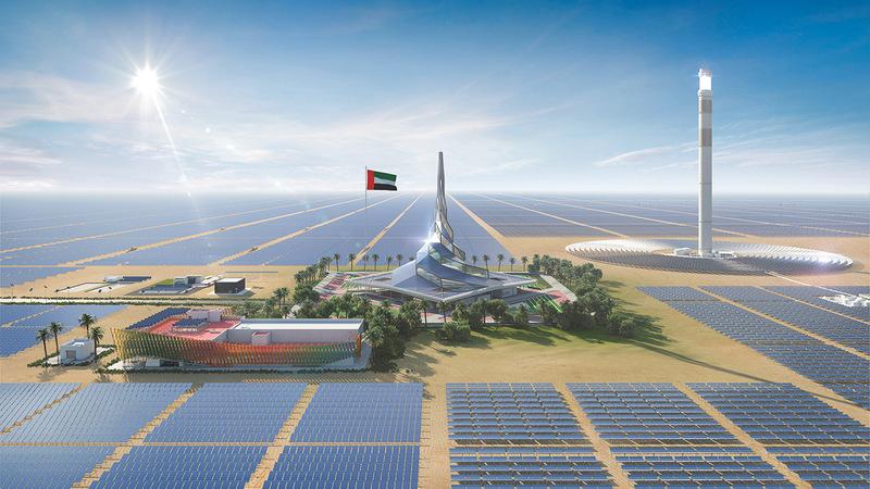 دولة الإمارات تقود الجهود العالمية في قطاع الطاقة النظيفة والمتجددة من خلال استراتيجياتها واستثماراتها. أرشيفية