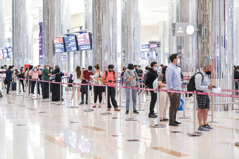 حركة المسافرين عبر «دبي الدولي» خلال ديسمبر سجلت نمواً بنسبة 313%.أرشيفية