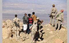 الصورة: الجيش اليمني يسيطر على «جبل قريضة» و«نجد المجمعة» في مأرب
