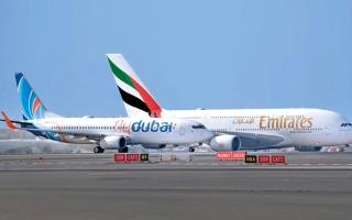 الصورة: «طيران الإمارات» و«فلاي دبي» ترفعان محطات الركاب إلى 164 وجهة