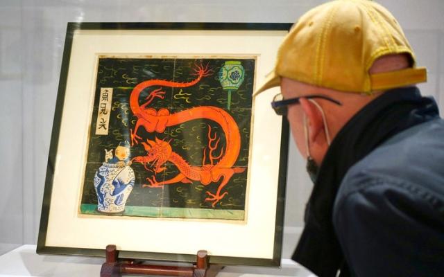 الصورة: بيع غلاف أحد مجلدات «تان تان» بـ 3 ملايين يورو