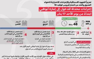 الصورة: «الطوارئ والأزمات» تحدّث إجراءات دخول أبوظبي