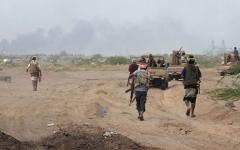 الصورة: مقاتلات التحالف تستهدف تعزيزات عسكرية حوثية في 3 محافظات يمنية