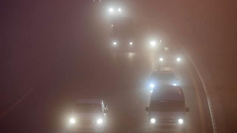 استخدام مصابيح الضباب يقلل خطر القيادة في حالات الرؤية المتدنية.  تصوير: باتريك كاستيلو