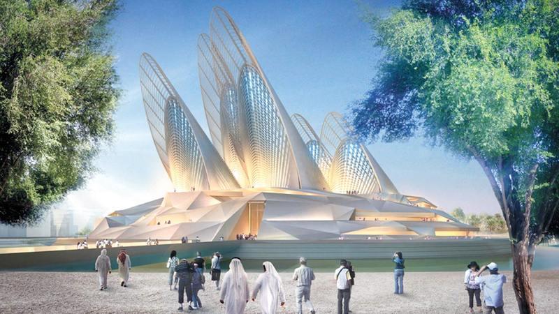 المتحف سيكون أحد أبرز الصروح المعمارية في الدولة.   أرشيفية