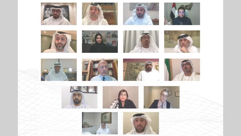 خلال الاجتماع الأول لمجلسَي التراث والفنون في 2021.  من المصدر
