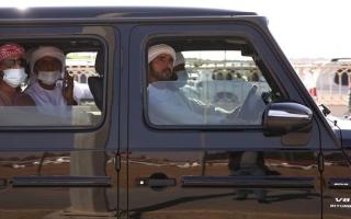الصورة: حمدان بن محمد يشهد رموز الحقاقة في مهرجان ولي عهد دبي للهجن